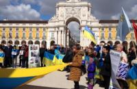 В Европе украинцы вышли на акции протеста против российской агрессии