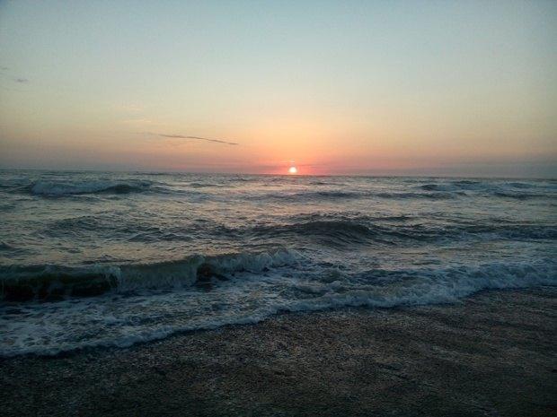Закат в Анаклии