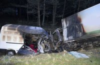 В аварии возле Ковеля сгорели два автомобиля. Два человека погибли, один в больнице
