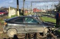 Во Львовской области водитель вылетел на ж/д пути и сбежал с места ДТП