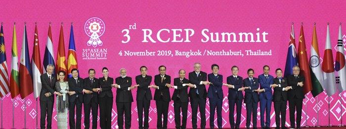Зустріч глав держав-членів Асоціації держав Південно-Східної Азії (АСЕАН), Австралії, Китаю, Індії, Японії, Кореї і Нової Зеландії з нагоди 3-го саміту організації ,Бангкок, 4 листопада 2019 р