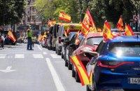 Испанские ультраправые провели многотысячные автопробеги против карантина