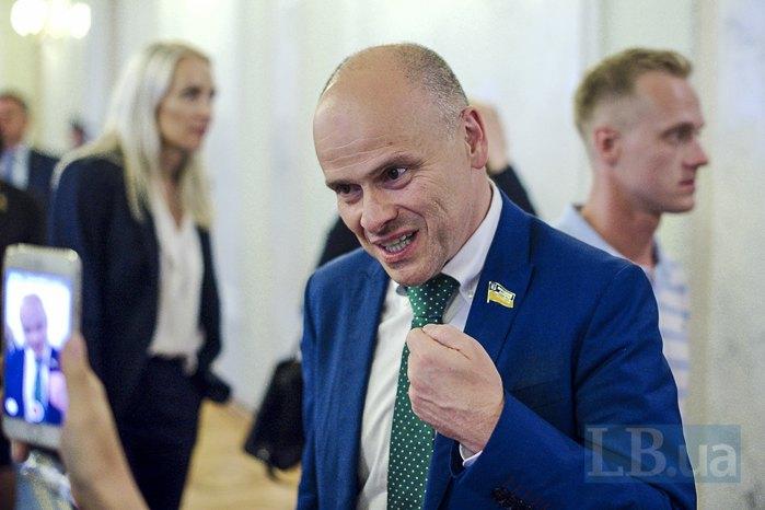 Михайло Радуцький після першого засідання в парламенті