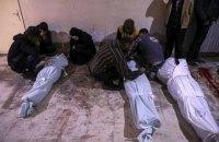 У результаті авіанальотів і обстрілів поблизу Дамаска загинули 98 осіб