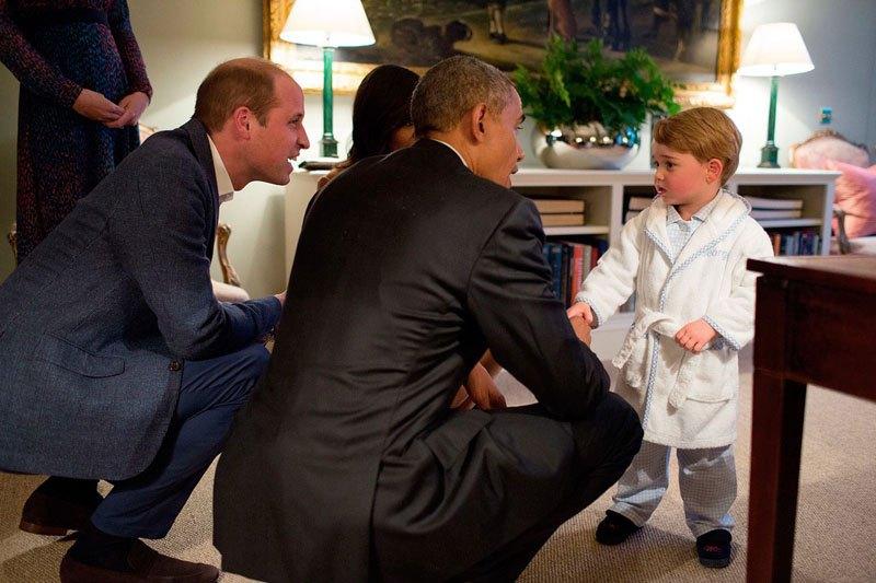 Встреча с принцем Джорджем. 22 апреля 2016 года