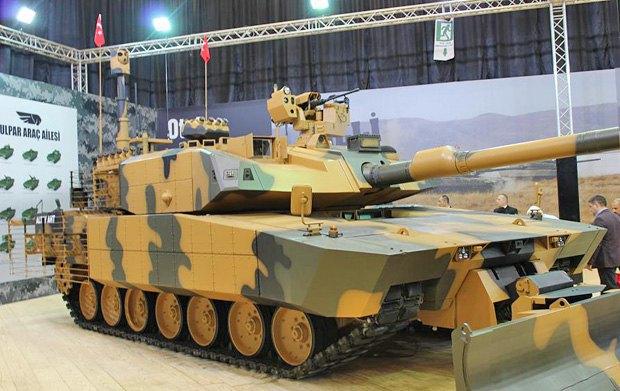 Модернизированный прототип танка Altay на IDEF-2017, Cтамбул