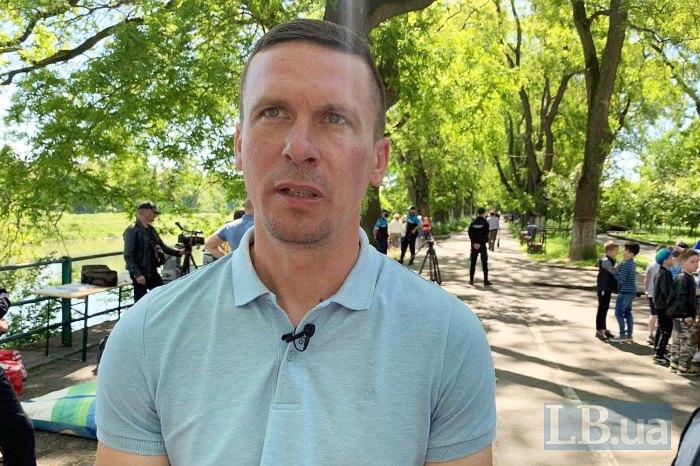 Екоактивіст засновник ГО «Екологічний рух «Кольорові баки» Віктор Бучинський