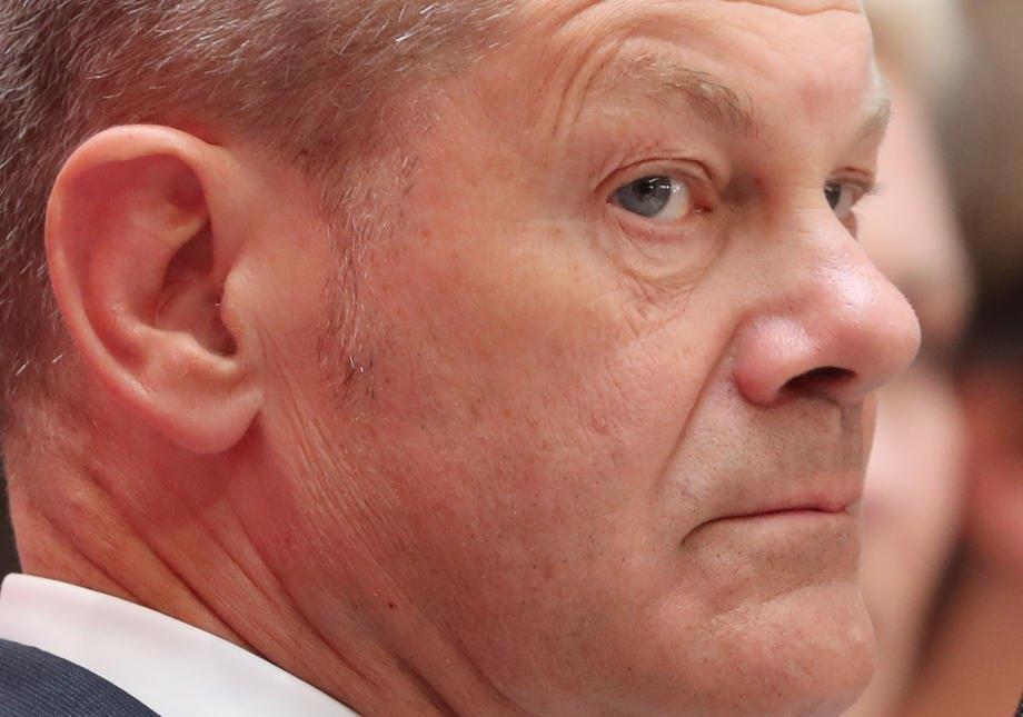 Олаф Шольц під час пресконференції у день виборів у Німеччині, Берлін, 27 вересня 2021 р.