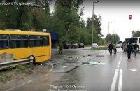 Под Киевом столкнулись маршрутка и автобус Нацгвардии