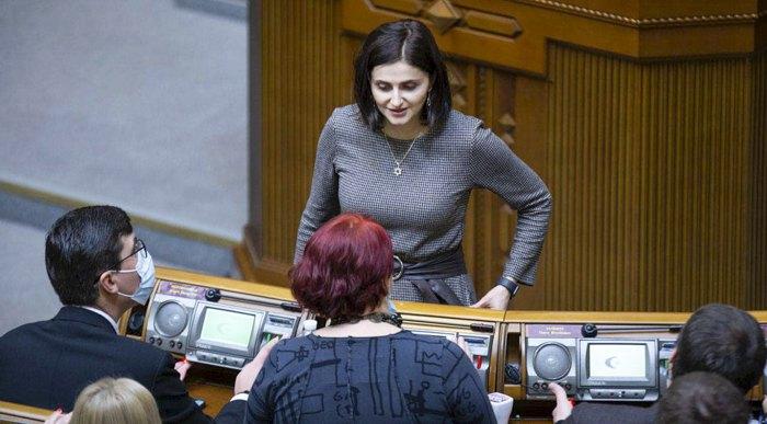 Ольга Василевськая-Смаглюк в перерыве между заседаниями парламента, 23 апреля 2021