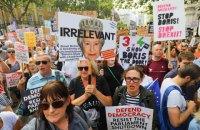 Тысячи британцев вышли на улицы из-за решения Джонсона приостановить работу парламента