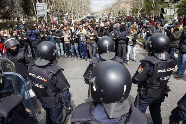 Студенческая демонстрация в Испании