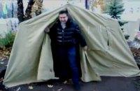Саакашвили заночевал в палатке у Рады