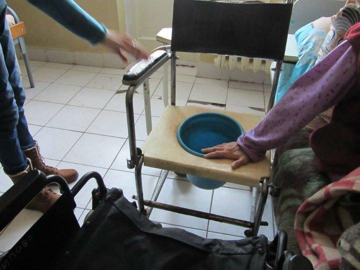 Туалет для пациентов. Святошинский психоневрологический интернат