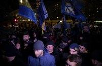 Білецький обіцяв перекрити дороги, якщо поліція не відпустить затриманих на акції під Радою (оновлено)