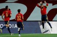 Сборная Украины была деклассирована сборной Испании в матче Лиги наций
