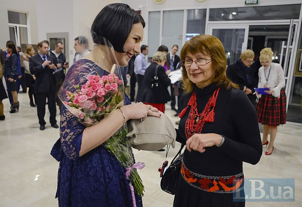 Соня Кошкина и автор украинского перевода книги Мила Иванцова