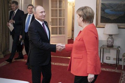 """General-Anzeiger: Меркель впервые после аннексии Крыма может приехать на """"Петербургский диалог"""" с Путиным"""