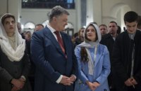 Порошенко відвідав храми УПЦ КП, УГКЦ, УПЦ МП і Католицької церкви у великодню ніч