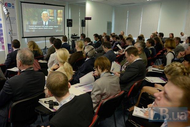 Видеообращение экс-президента Европарламента Ежи Бузека к участникам ІІІ Национального Экспертного Форума