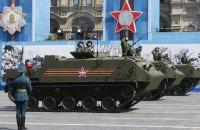 На военном параде в Москве показали технику, испытанную в боях в Сирии