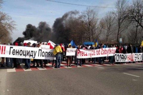 Милиция задержала 80 участников блокады дороги около польской границы