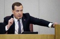 Медведєв заговорив українською у твіттері через Саакашвілі