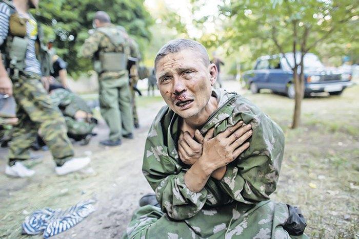 Допит бойовиками українського військовополоненого, Шахтарськ, 31 липня 2014