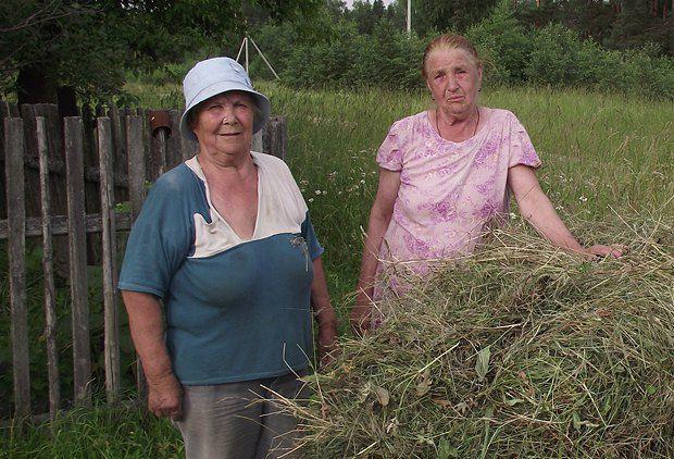 У подружек Зины (слева) и Люси собственная экономическая система: в одну сторону отправляется сено, а в обратном направлении следуют молоко и творог