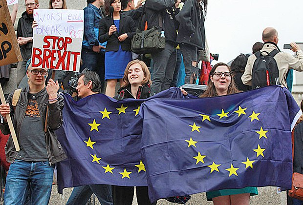 Мітинг проти виходу Британії з ЄС