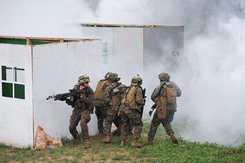 На Яворівському полігоні згоріли намети з речами військових