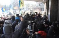 Житомирский облсовет взят в осаду
