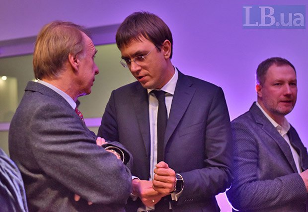 Слева направо: Владимир Огрызко, Владимир Омелян и Олег Деревянко