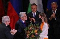 Експрезидент ФРН Гаук отримав премію імені святого Войцеха за внесок у згуртування Європи