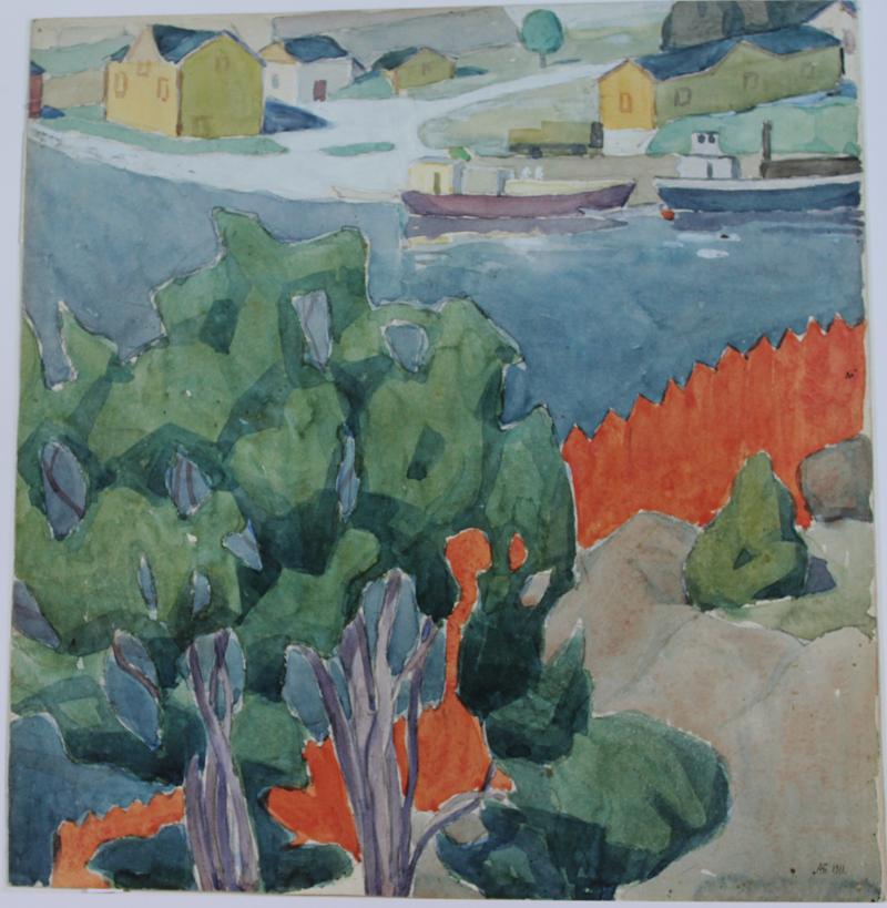 О.Богомазов «Фінляндія. Пейзаж» (NAMU, 1911)