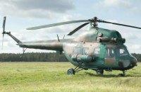 На учениях в Кременчуге  упал вертолет Ми-2
