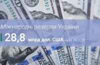 Международные резервы Украины в июле выросли на $ 0,3 млрд