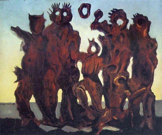 """Макс Эрнст, """"Они слишком долго спали в лесу"""", 1926"""