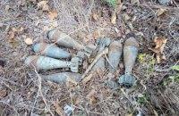На Донеччині біля дороги знайшли схрон із мінометними мінами