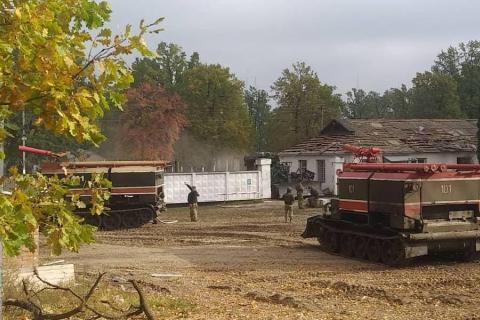 Пожар на арсенале Минобороны около Ични ликвидирован