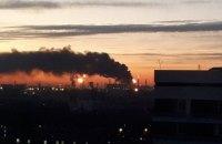 В Москве загорелся нефтеперерабатывающий завод