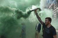 В столице под КГГА прошел митинг против застройки Чкаловского сквера