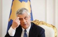 Президент Косово подал в отставку после обвинения в военных преступлениях