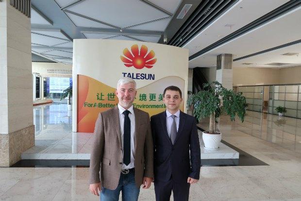 Александр Репкин и генеральный директор компании «Tokmak Solar Energy» Александр Дьяченко