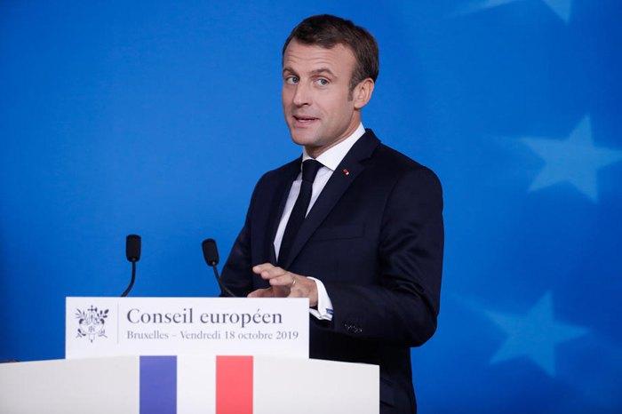 Президент Франції Еммануель Макрон під час саміту Ради Європи в Брюсселі, 18 жовтня 2019.