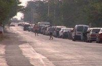 На въезде в Крым со стороны Украины образовалась многочасовая очередь