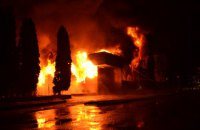 """В Ровно ночью произошел крупный пожар в ресторане """"Истанбул"""""""