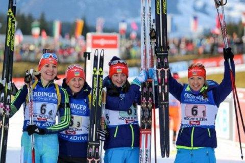 Українські біатлоністки взяли бронзу в естафеті на Кубку світу
