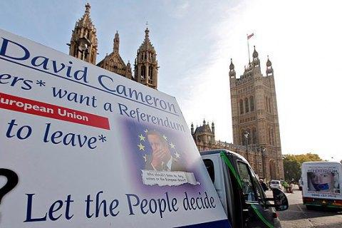У Британії скоротилося число прихильників виходу з ЄС