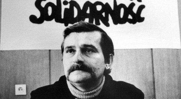 Лех Валенса на национальном съезде профсоюза «Солидарность», 1981 год.